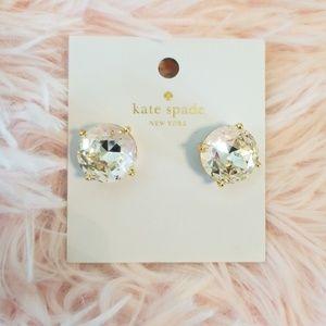 Kate Spade Large Clear Gumdrop Earrings